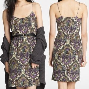 J. Crew Silk Paisley Strap Dress Size 10